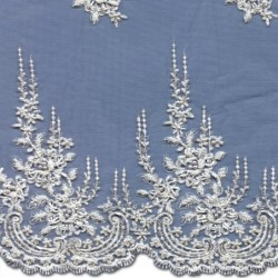 Beaded Wedding Lace Fabric 3887BS | Bridal Lace Fabric | Buy